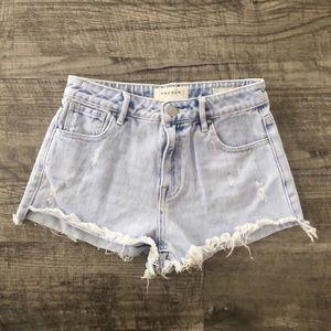 Pacsun high rise cutoff jean shorts